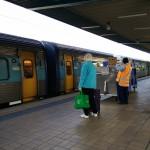 XPT arriving the platform at Central