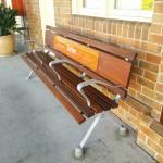 Benches at Taree Train Station