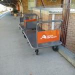Refreshed baggage trolleys