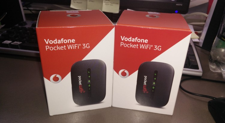 Original packaging of the Vodafone Pocket WiFi 3G