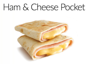 How Maccas Ham and Cheese Pocket are advertised
