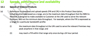 NBN Co outlines its speed performance criteria for Peak Information Rate (PIR)